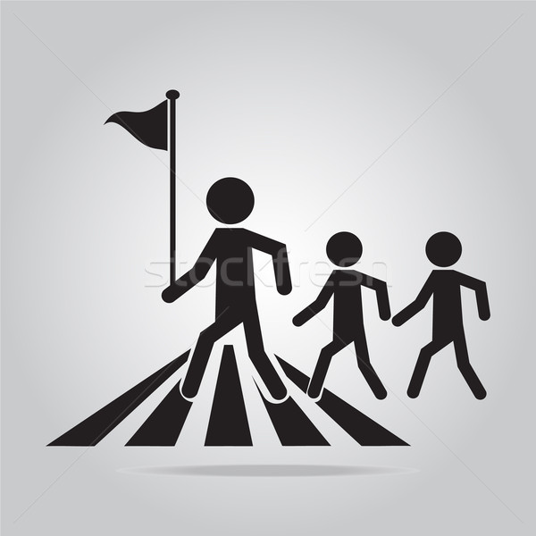 pedestrian crossing sign. Stock photo © Kheat