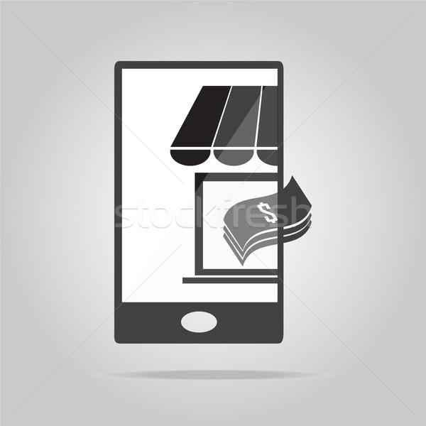 Compras dinheiro ícone ilustração negócio Foto stock © Kheat