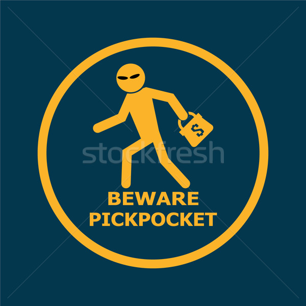 Beware pickpocket sign Stock photo © Kheat