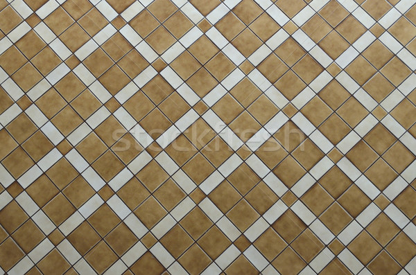 Brown ceramic tiled floor texture background Stock photo © Kheat