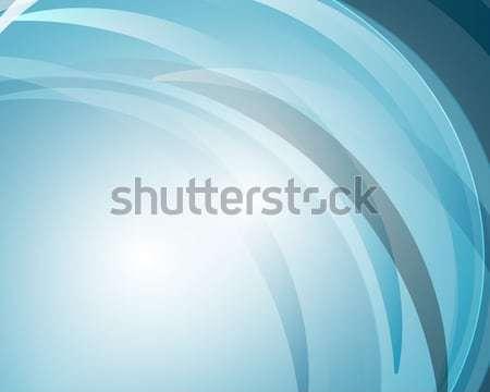 Absztrakt görbe kék vonalak művészet háló Stock fotó © Kheat