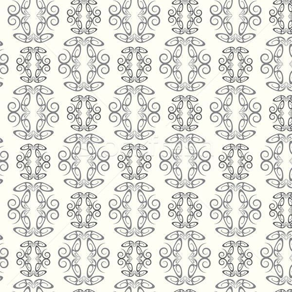 seamless pattern lines curve monochrome vector background Stock photo © Kheat