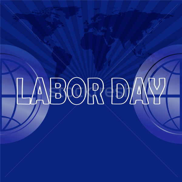 Labor day text on map background Stock photo © Kheat