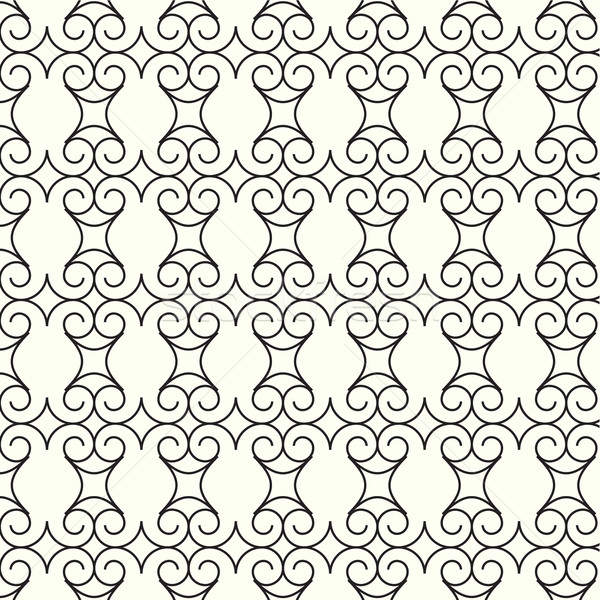 abstract seamless pattern lines curve vector background Stock photo © Kheat