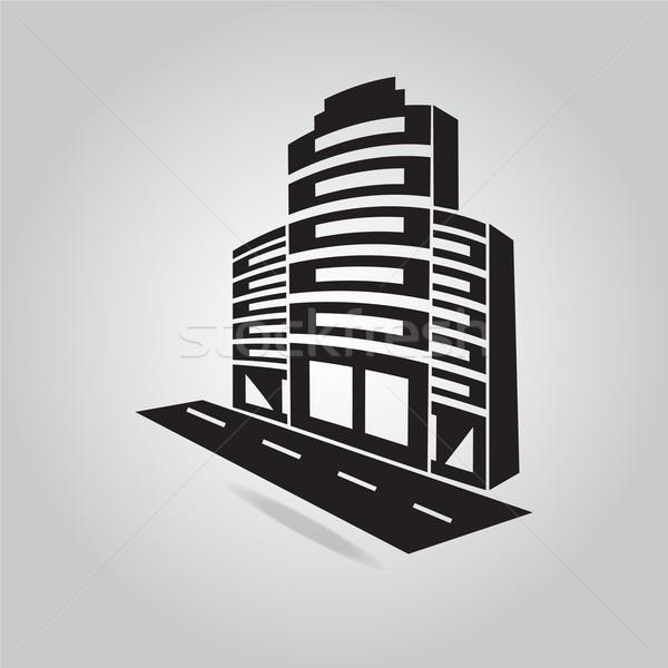オフィスビル アイコン 道路 ビジネス オフィス 通り ストックフォト © Kheat