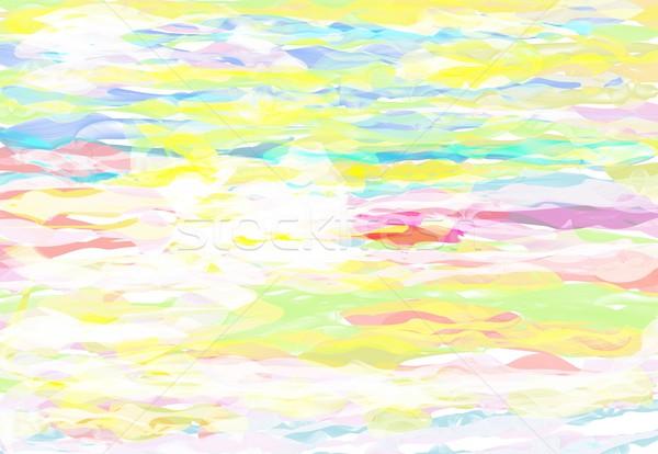 Wielobarwny malarstwo szczotki tekstury streszczenie ściany Zdjęcia stock © Kheat