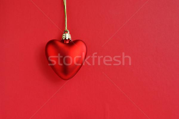 Piros szív szeretet absztrakt kártya ajándék Stock fotó © Kheat