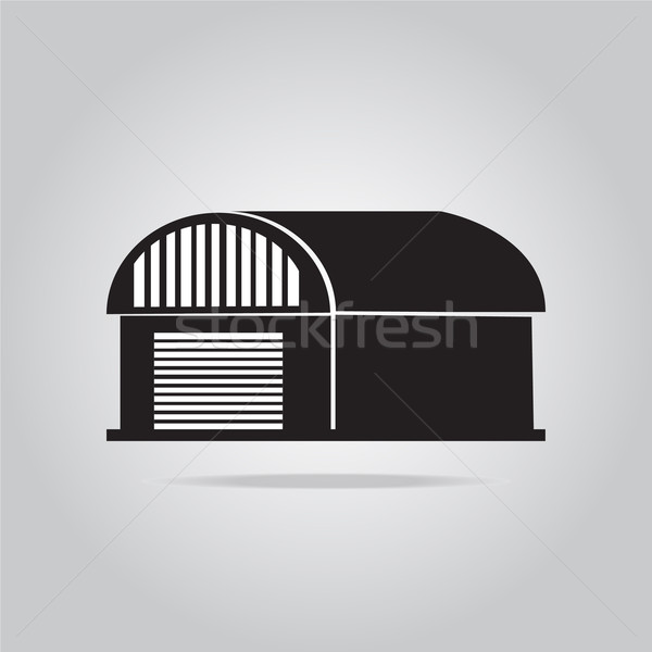 Building icon, barn, warehouse illustration Stock photo © Kheat
