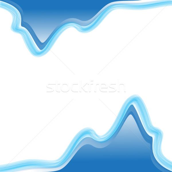 Kék hullámos vektor absztrakt textúra háttér Stock fotó © Kheat