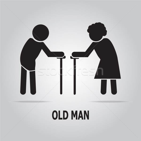 Elderly symbol. old people illustration Stock photo © Kheat