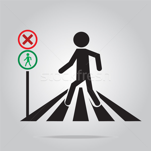 歩行者 にログイン 学校 道路標識 実例 道路 ストックフォト © Kheat
