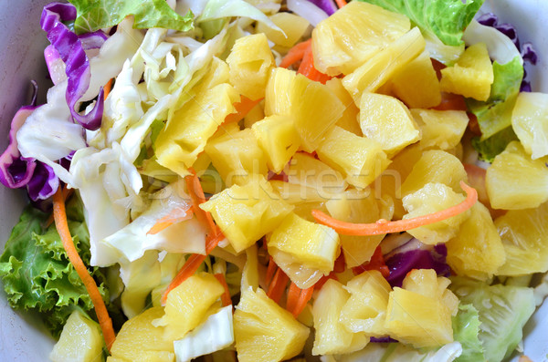 Salada comida folha pão jantar prato Foto stock © Kheat