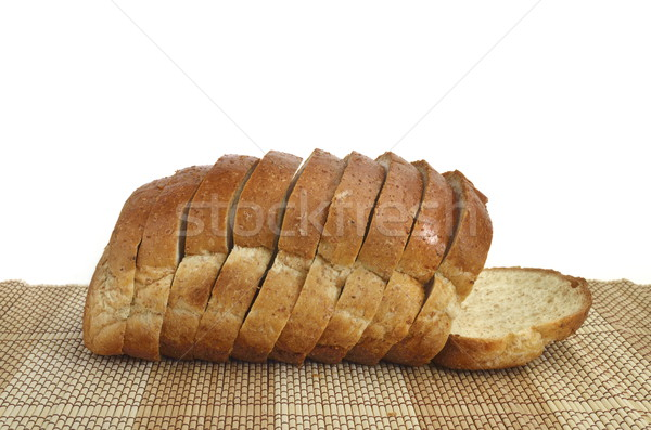 sliced whole wheat bread on wood Stock photo © Kheat