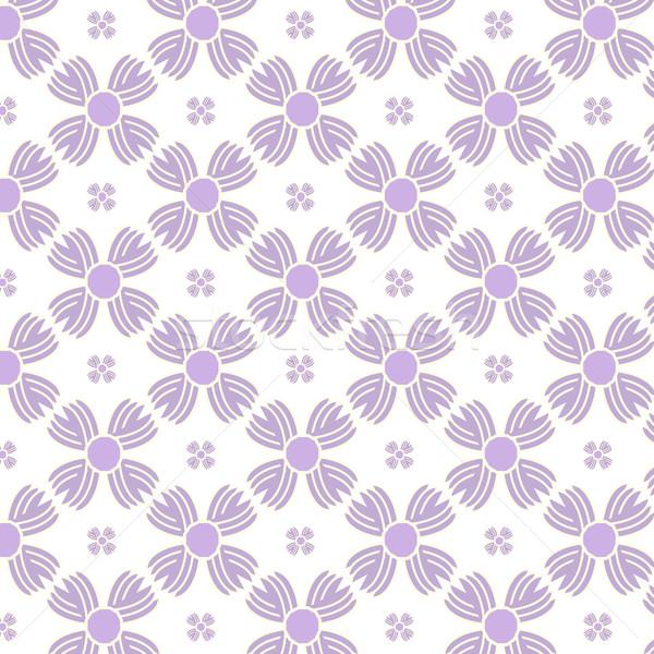 Végtelenített lila virágok minta textúra absztrakt Stock fotó © Kheat