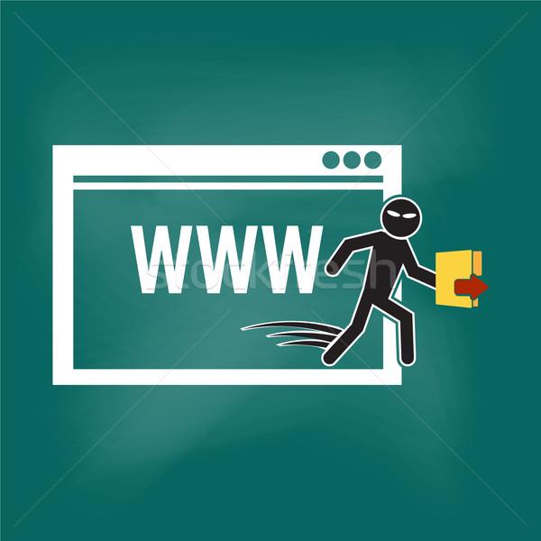 хакер интернет безопасности иллюстрация программное преступление Сток-фото © Kheat