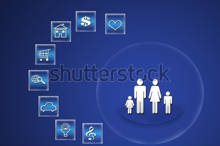 Sosyal insanlar dizayn teknoloji arka plan web Stok fotoğraf © Kheat