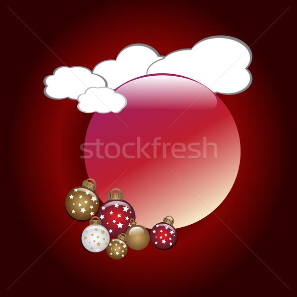 Abstrato celebração natal bola vermelho novo Foto stock © Kheat