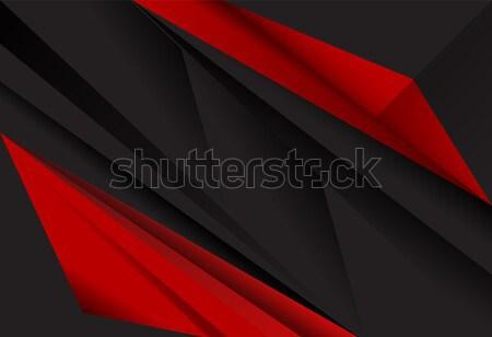 Piros fekete absztrakt réteg mértani textúra Stock fotó © Kheat