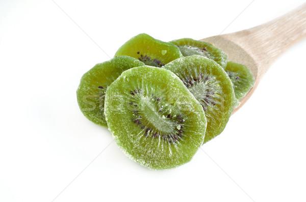 Secas kiwi branco isolado comida Foto stock © Kheat