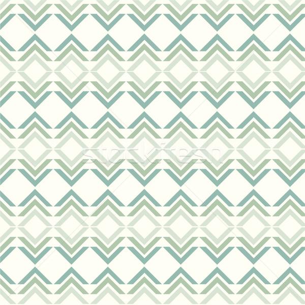 ベクトル シームレス 緑 パターン 幾何学的な 背景 ストックフォト © Kheat