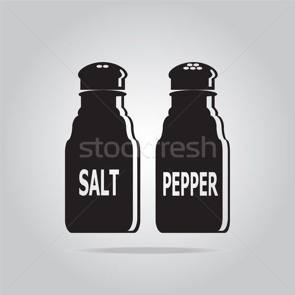 Salt and Pepper Bottle icon Stock photo © Kheat