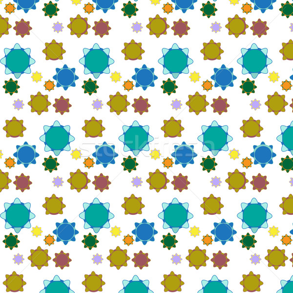 Stockfoto: Vector · naadloos · meetkundig · tegels · patroon · achtergrond