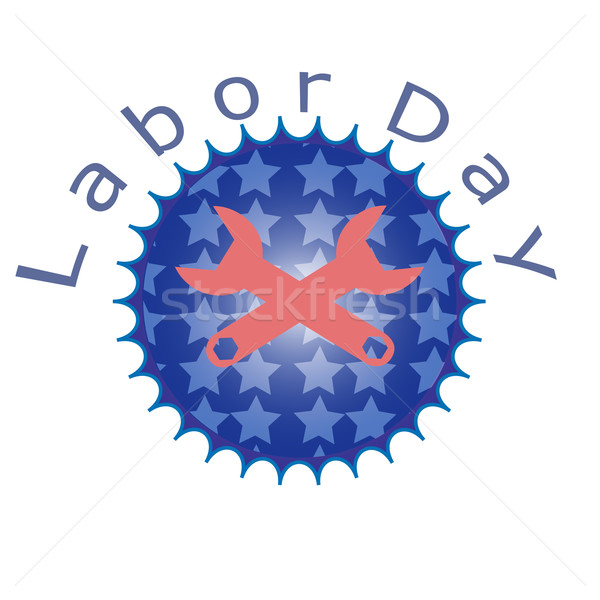 Labor day, working icon Stock photo © Kheat