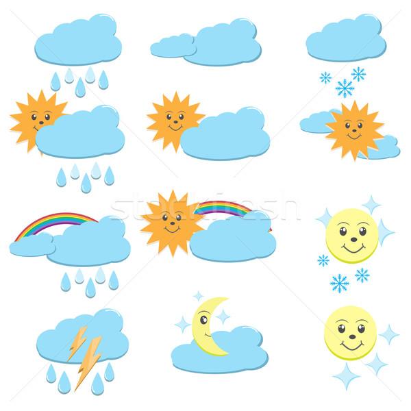 天気 12 ベクトル アイコン 太陽 ストックフォト © Kheat