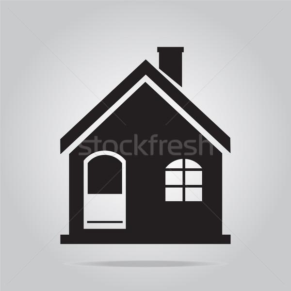 Edifício ícone negócio escritório casa restaurante Foto stock © Kheat