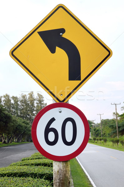 Sinaleiro limite de velocidade estrada acelerar placa sinalizadora maneira Foto stock © Kheat