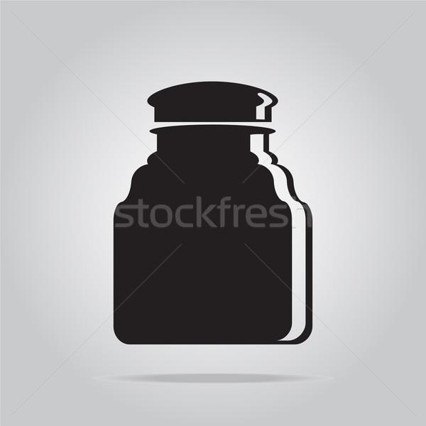 üveg ikon víz üveg ital tej Stock fotó © Kheat