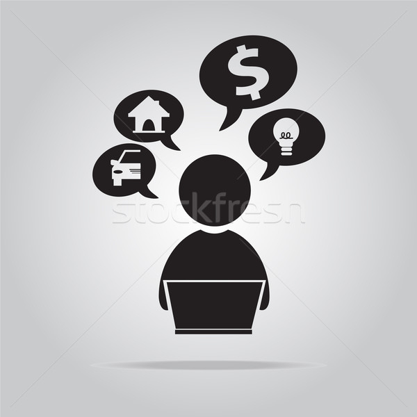person icon, vector illustration Stock photo © Kheat