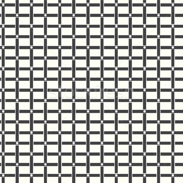 Végtelen minta mértani monokróm vektor absztrakt fekete Stock fotó © Kheat