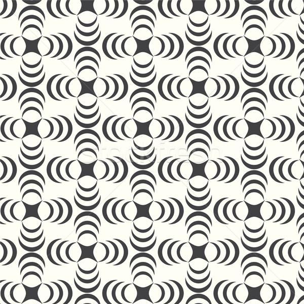 Vektor végtelen minta mértani monokróm absztrakt terv Stock fotó © Kheat