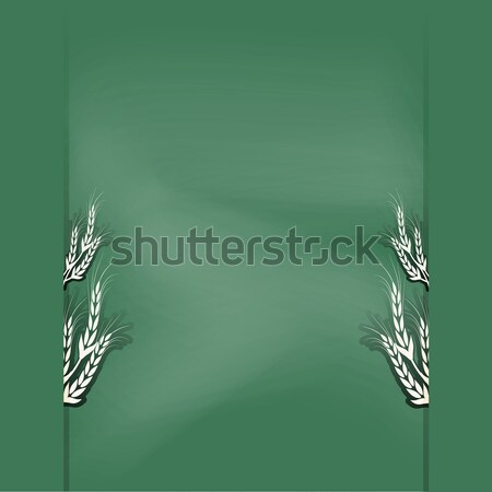 Schoolbord ontwerp pagina voedsel abstract home Stockfoto © Kheat