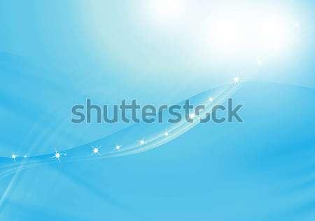 Resumen curva azul negocios cumpleanos fondo Foto stock © Kheat