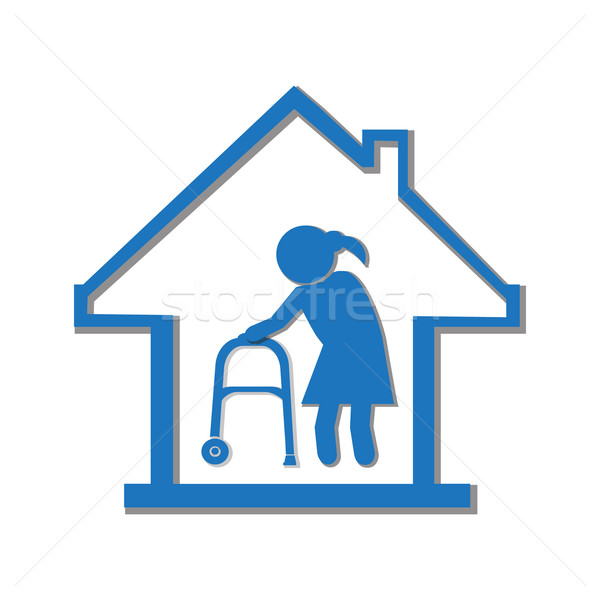 Nursing home symbol, icon illustration Stock photo © Kheat