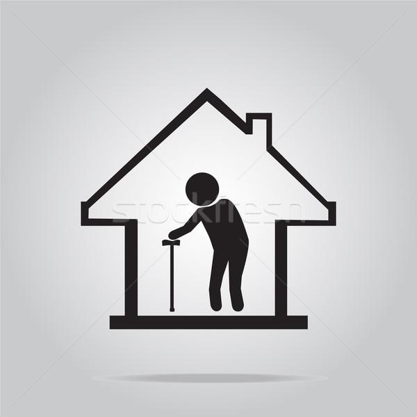 老人ホーム シンボル アイコン にログイン 行使 だけ ストックフォト © Kheat