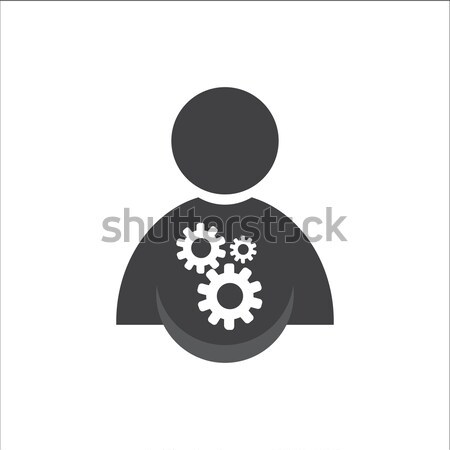 people with gears icon Stock photo © Kheat