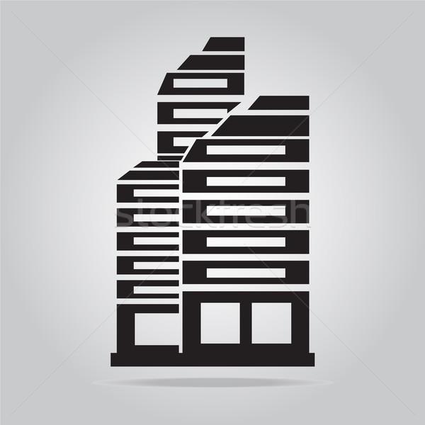 Foto stock: Prédio · comercial · ícone · negócio · escritório · casa · restaurante