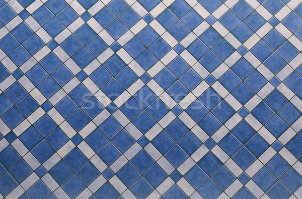 Blue ceramic tiled floor texture background Stock photo © Kheat