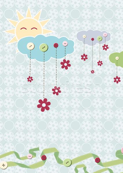 çocuk kart çiçek bebek güneş doğum günü Stok fotoğraf © khvost
