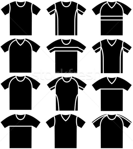 Tessuto shop nero bianco shirt panno Foto d'archivio © khvost