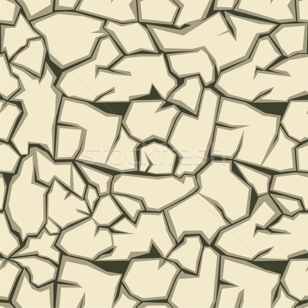 Crack terra moda abstract terra Foto d'archivio © khvost