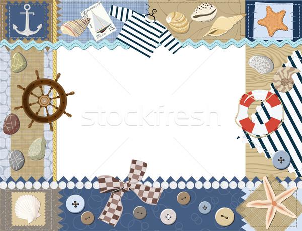 Bebek arka plan çerçeve kart çapa Stok fotoğraf © khvost