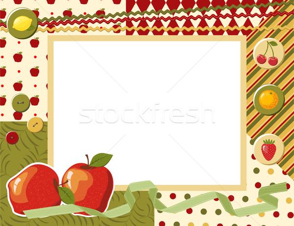 Fotoğraf vektör kız bebek elma Stok fotoğraf © khvost