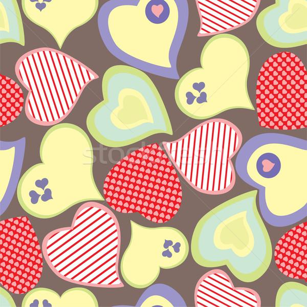 Kalpler sevmek mutlu sağlık imzalamak Stok fotoğraf © khvost
