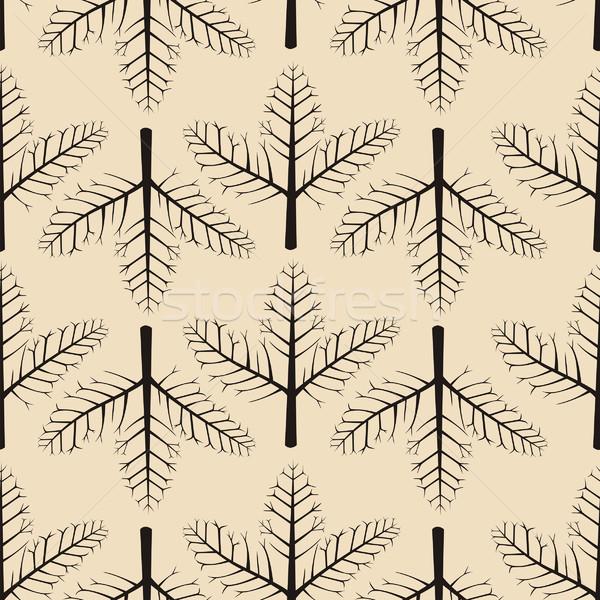 Doku ağaç duvar kağıdı model çizim Stok fotoğraf © khvost