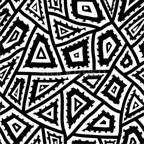 Abstract arte tessuto nero bianco Foto d'archivio © khvost