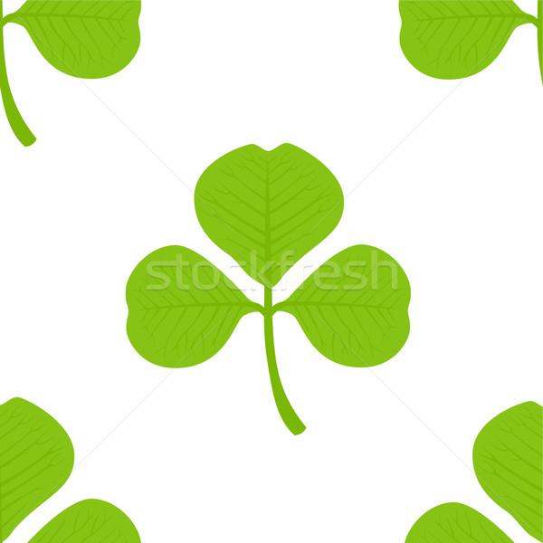 Trifoglio senza soluzione di continuità wallpaper texture verde retro Foto d'archivio © khvost